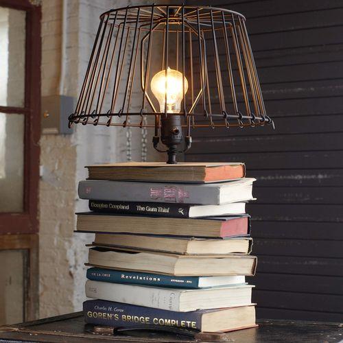 base lampara libro