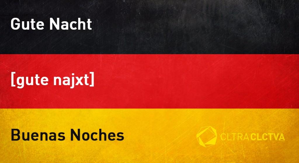 aprender aleman buenasnoches