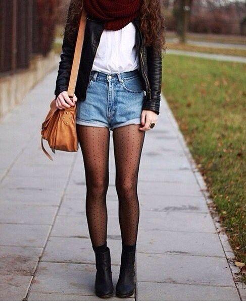 como usar shorts medias negras