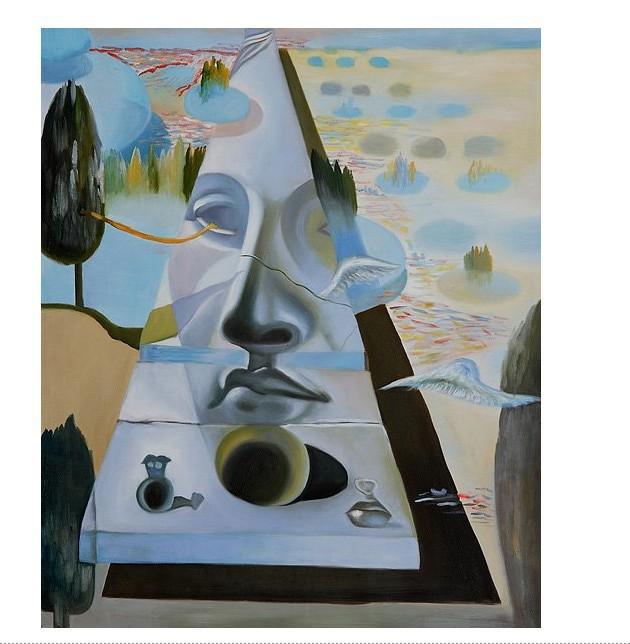 Cuadros de Dalí - Aparición del rostro de Afrosita de Cnido