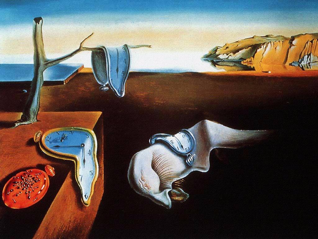 Cuadros de Dalí - La persistencia del tiempo