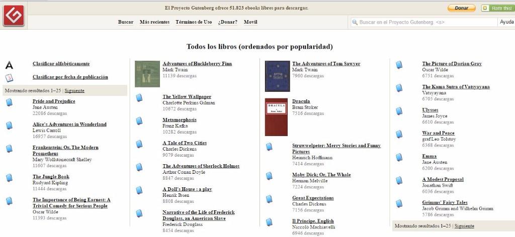 descargar libros gratis Gutemberg