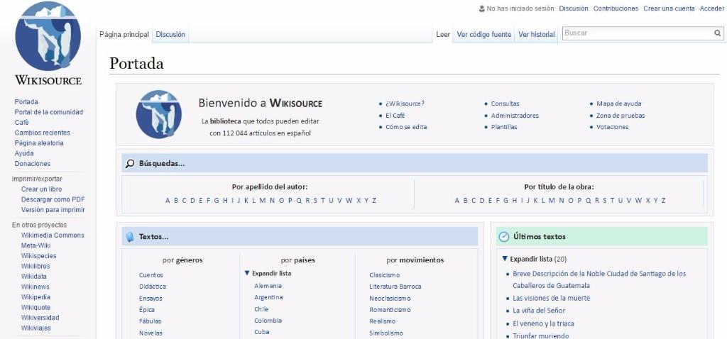 descargar libros wikisource