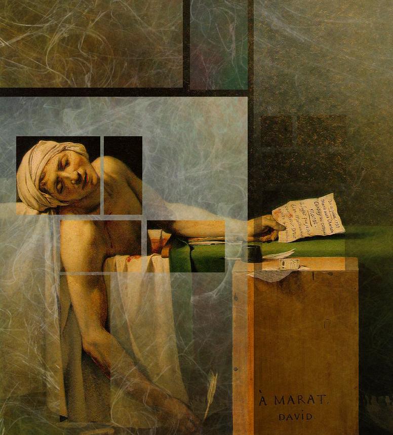 Detalles de la pintura / La muerte de Marat