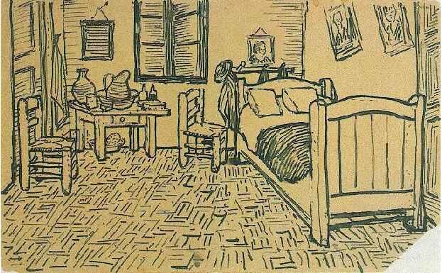 dibujo 2 habitacion en arles