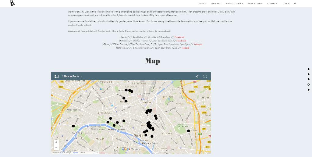 Ciudad favorita doce horas mapa