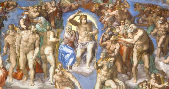 el juicio final miguel angel buonarroti