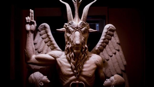 estatua iglesia de satan