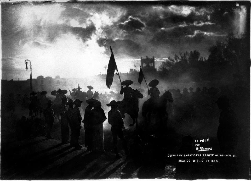 fotografias de Mexico Zapatistas Palacio Nacional