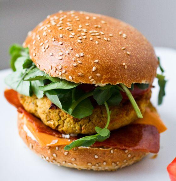 hamburguesa de alubias / hamburguesas veganas