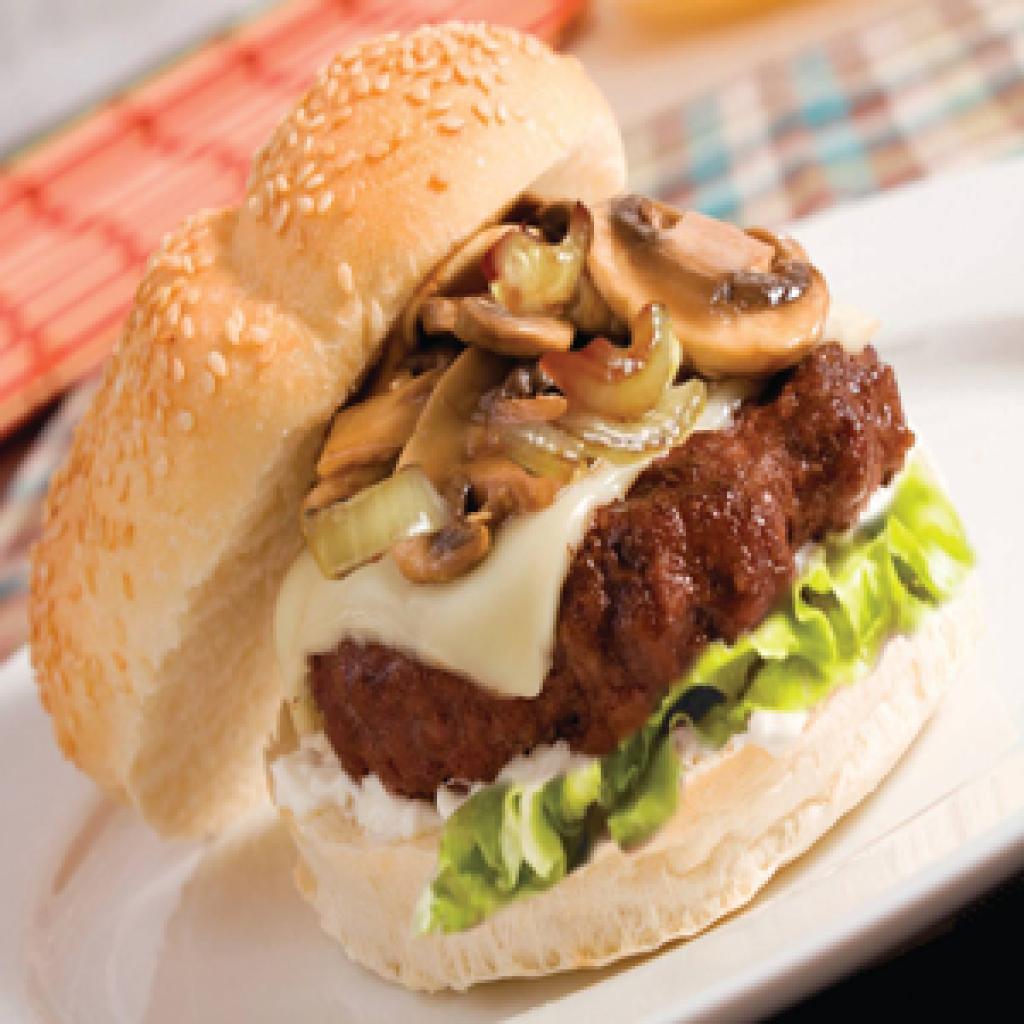 hamburguesa de champiñones  / hamburguesas veganas