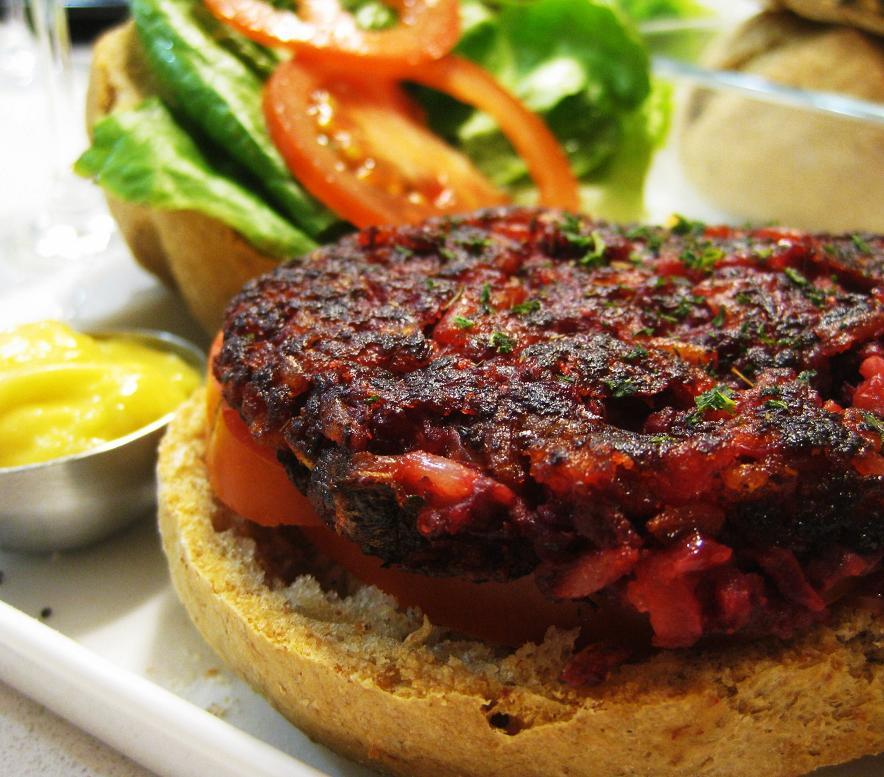 hamburguesa de remolachas  hamburguesas veganas