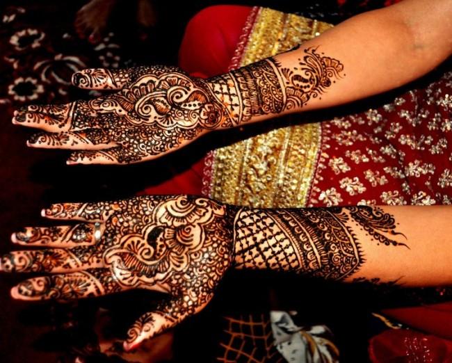 henna dos manos