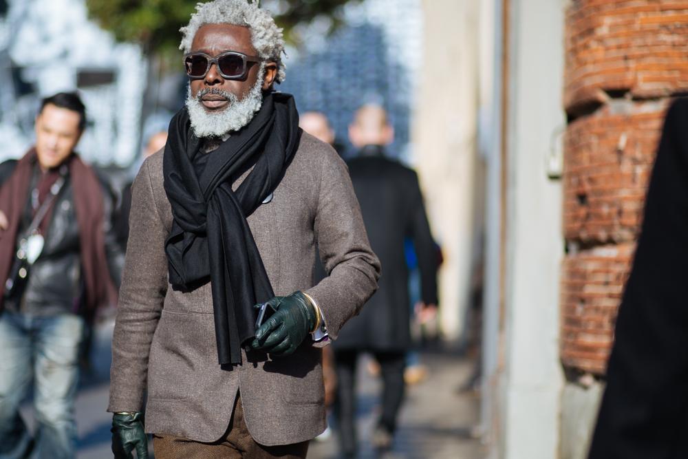 hombres con estilo Milan guantes
