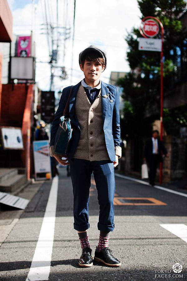 hombres con estilo Tokio sombrero
