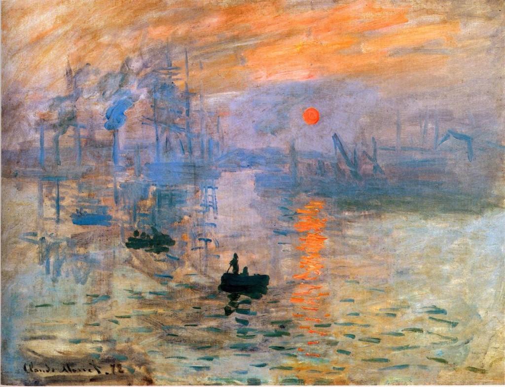 impresion sol naciente pintura de arte