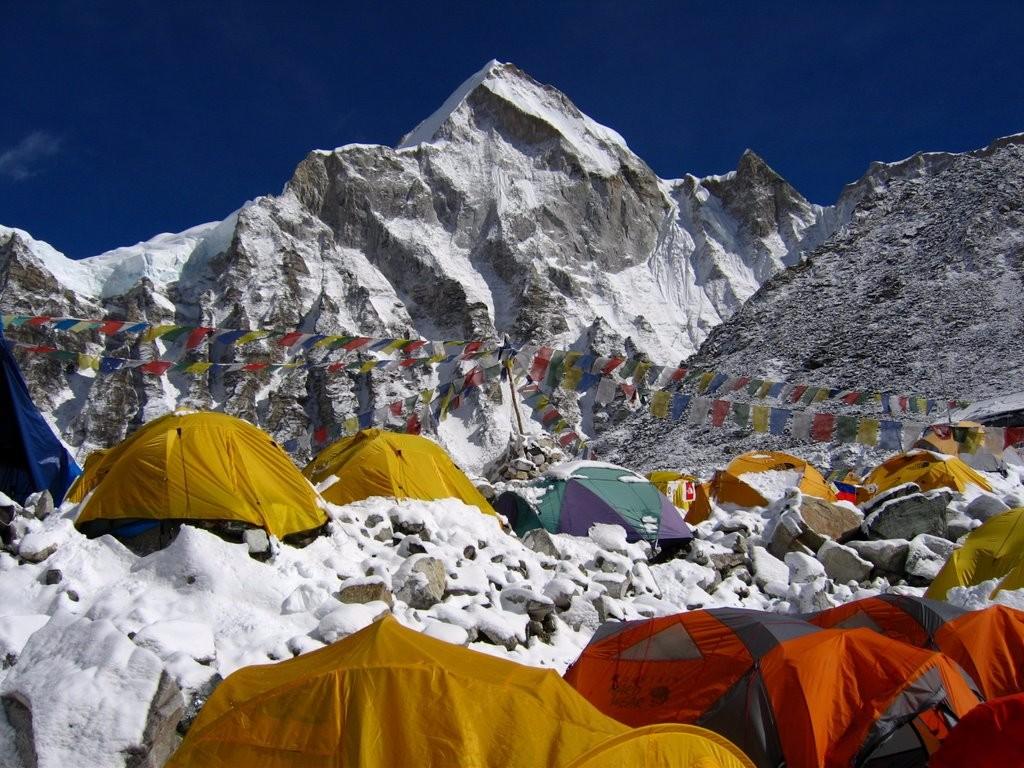 la rutina Everest base