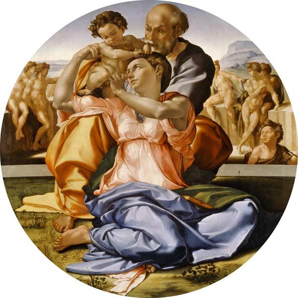 la sagrada familia miguel angel buonarroti