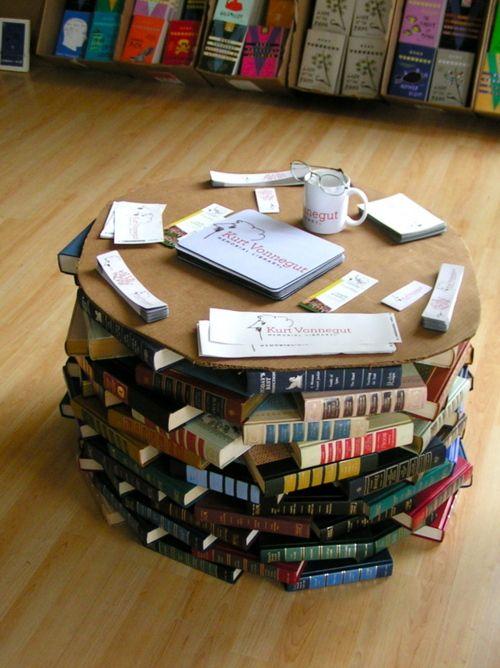 libros en mesa