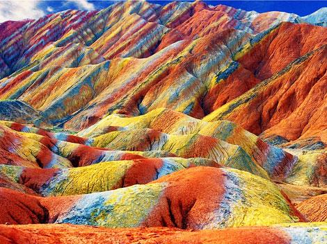 lugares coloridos zhangye montana