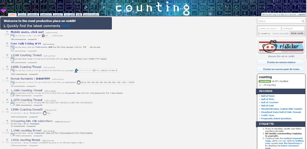 paginas de internet extrañas counting