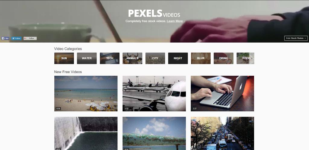 paginas video pexels