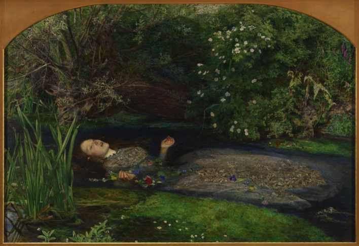 Pinturas de la muerte . Millais