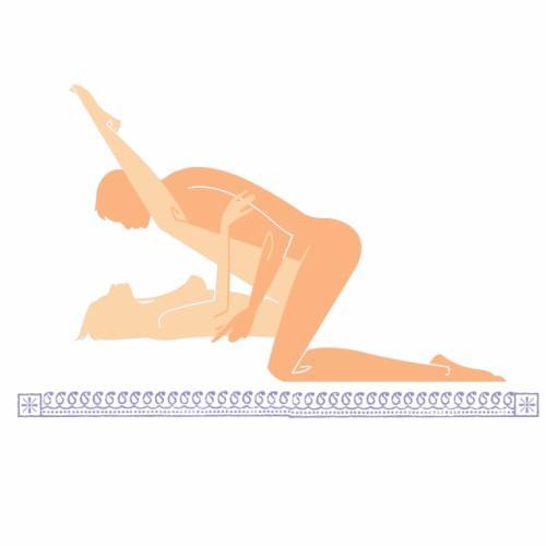 posiciones sexuales placenteras hombro