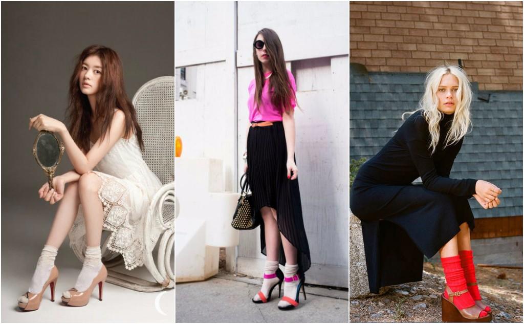 reglas de moda zapatos calcetin