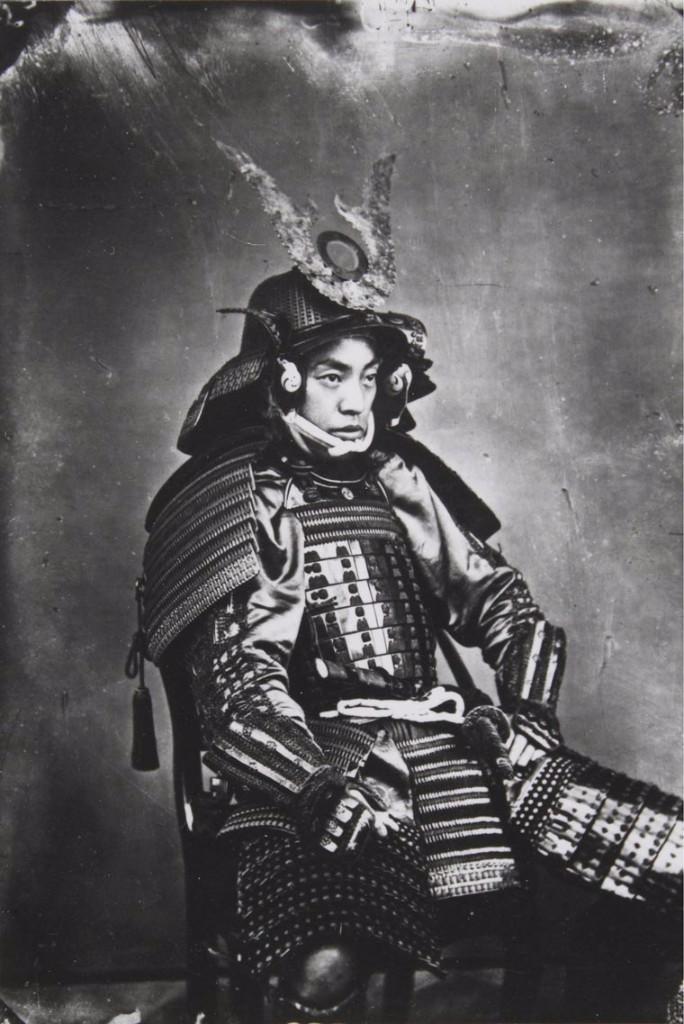 retrato samurái  guerreros samurái