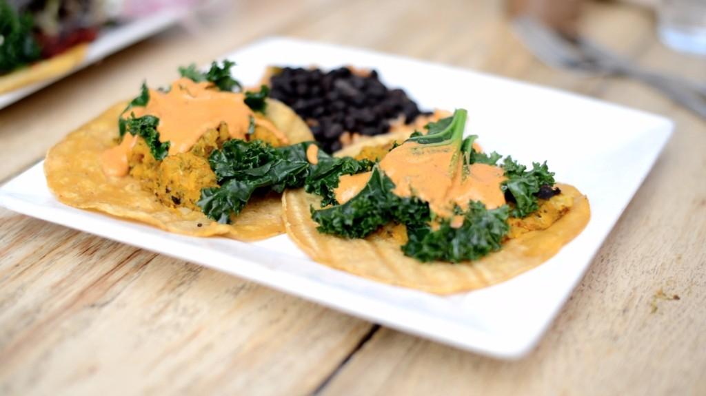 Tacos veganos - calabaza