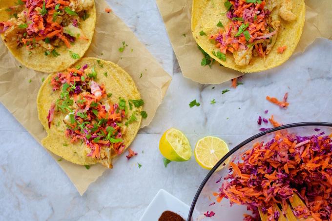 Tacos veganos - coliflor