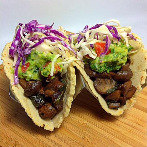 Tacos veganos - hongos