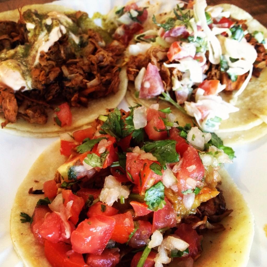 Tacos veganos - yaca