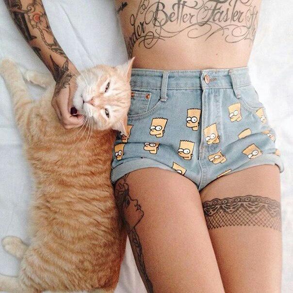 Tatuaje con gato |  hacerte un tatuaje