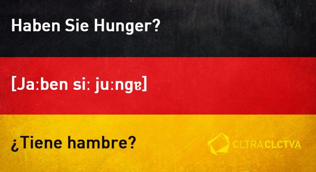 aprender aleman tienehambre
