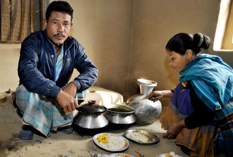 tribu garo comida