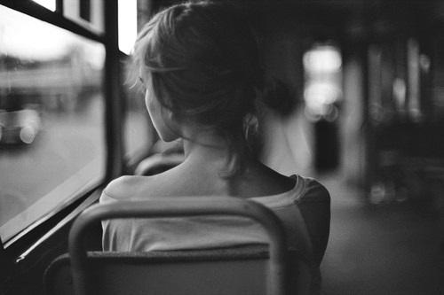 una depresión mujer camión