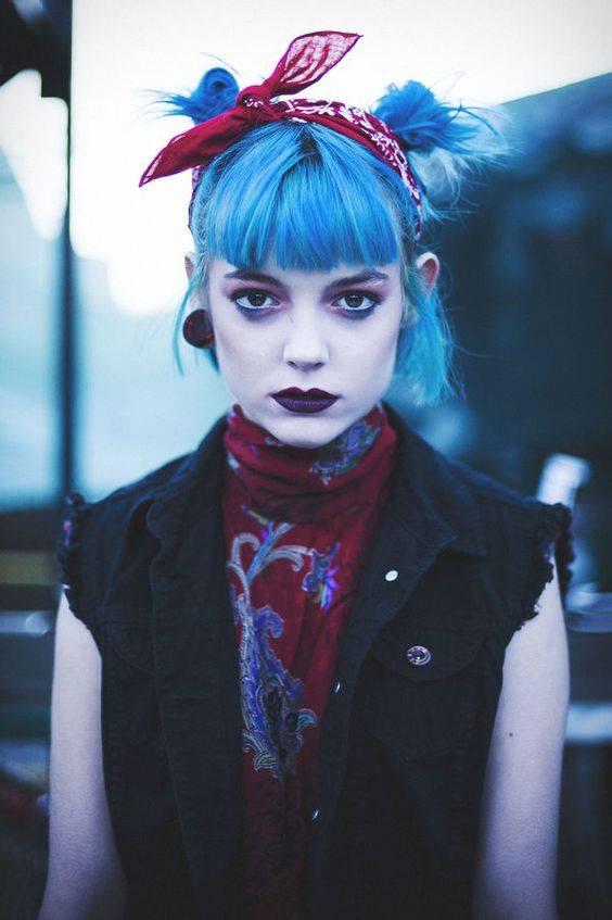 verdadero punk pelo azul