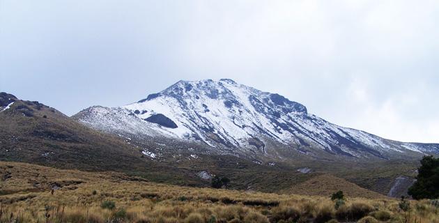 volcanes en México malinche nieve