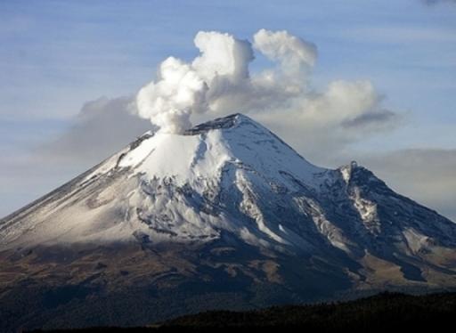 volcanes en México pico fumarola
