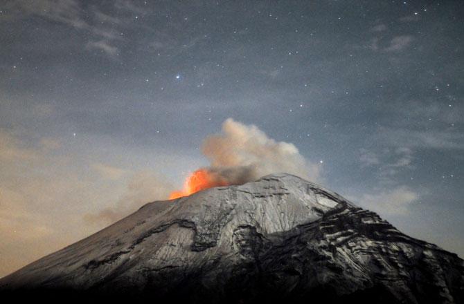 volcanes en México popocatepetl fumarola