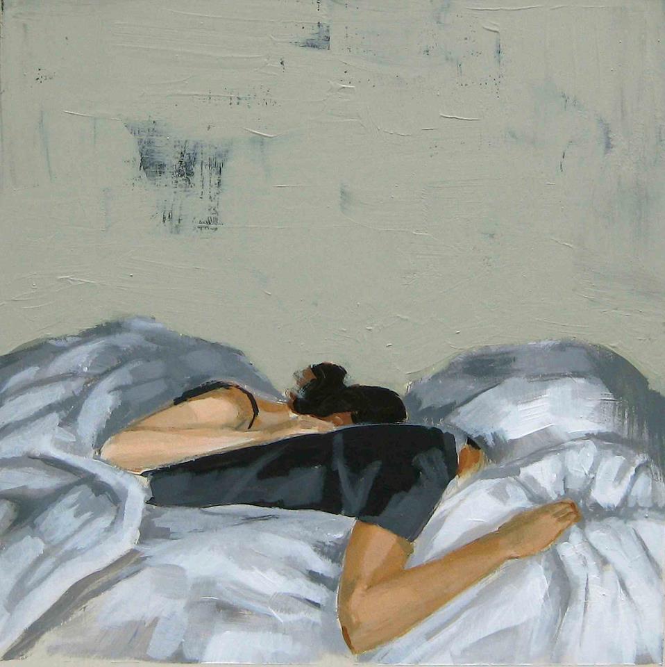 Pareja dormida / mujer tímida