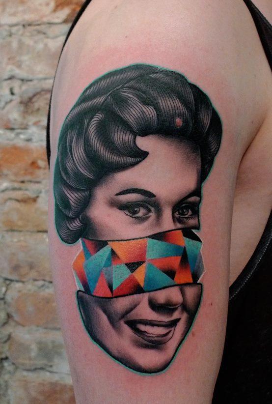 Cara geométrica / tatuajes inspirados