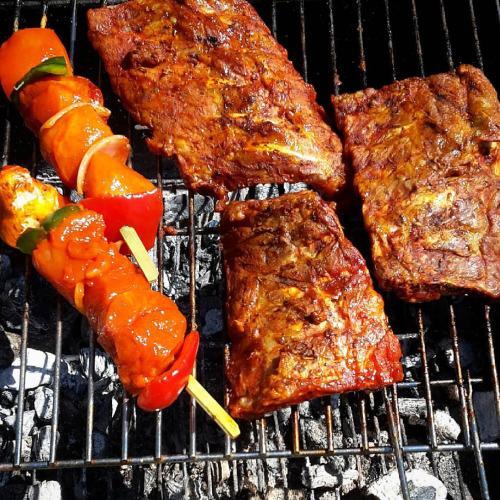 carne asada brocheta