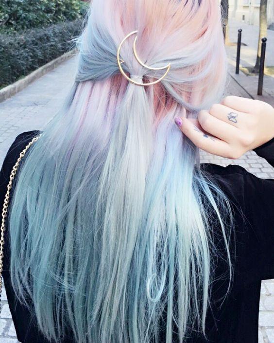color de cabello arcoiris
