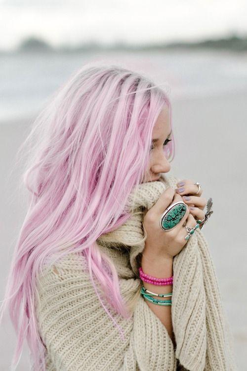 color de cabello rosa