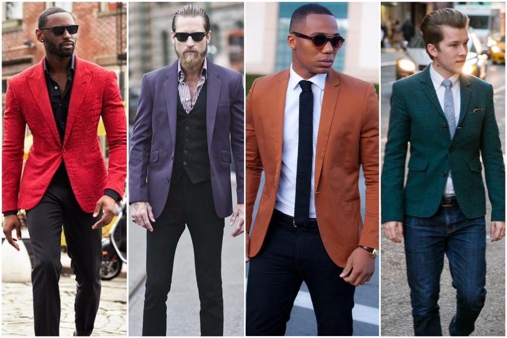 color de piel blazer hombres
