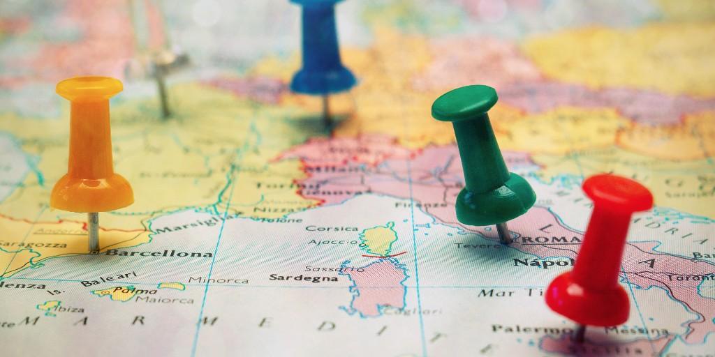 como viajar mapa