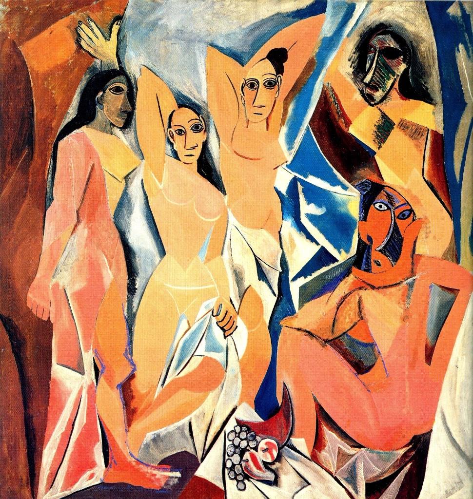 cuadros de picasso senoritas Avignon